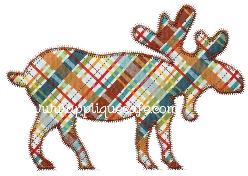 Applique Cafe Moose | Embroidery Design | Belinda Lee Designs Blog